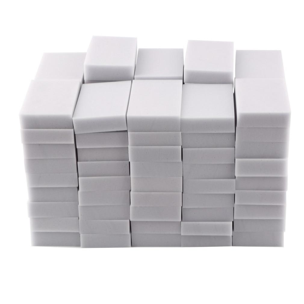 100pcs 100*60*20mm Magic Sponge Cleaner Super Decontamination Eraser Melamine Kitchen Bathroom Cleaning Tool Free Shipping