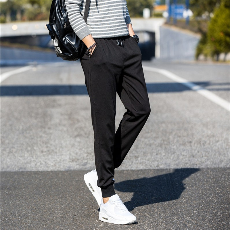 Autumn Casual Pants Skinny Pants Men's Athletic Pants Loose-Fit Korean-style Trend Versatile MEN'S Sweatpants Harem Ankle Banded