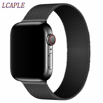 milanese loop strap for apple watch 4 5 band 44mm 40mm iwatch 3 2 band apple watch 42mm 38mm correa pulseira watch accessories Correa For Apple Watch 42mm 38mm Strap Iwatch Series 6 se 5 4 3Stainless Steel Bracelet Milanese Loop Apple Watch Band 44mm 40mm