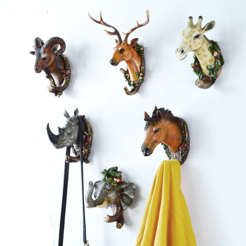 New Wall Coat Rack Home Wall Decoration Animal Head Rack
