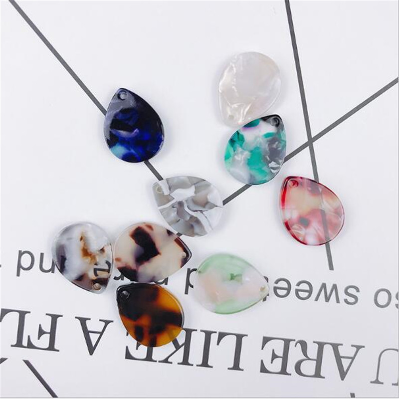 10pcs/lot acetic acid water drop charms connectors for diy fashion earrings necklace acrylic beads jewelry making accessories
