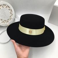 The new autumn/winter wool Black flat hat little hat joker travel tide restoring ancient ways men and women go shopping shade