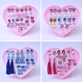 Children Ear Clip Creative Fashion Style Lovely Diamond Earrings Set New Year Birthday Girl Earring Hairpin