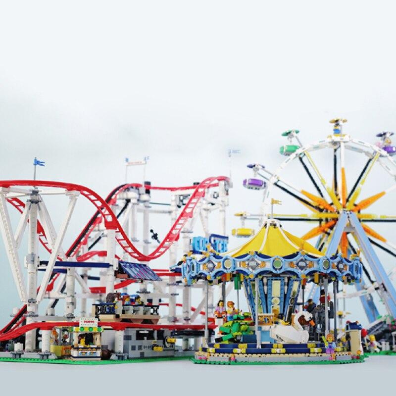 Creator Expert City Street View Ferris ล้อ Carousel ชุด Building Blocks ชุดอิฐของเล่นเพื่อการศึกษาเด็ก-ใน บล็อก จาก ของเล่นและงานอดิเรก บน   1