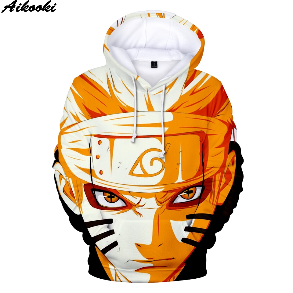 2019 Anime Naruto Shippuden 3D Print Hoodie Autumn Winter Fashion Men's Harajuku Youth Sweatshirt Street Clothing Hip Hop Hoodie