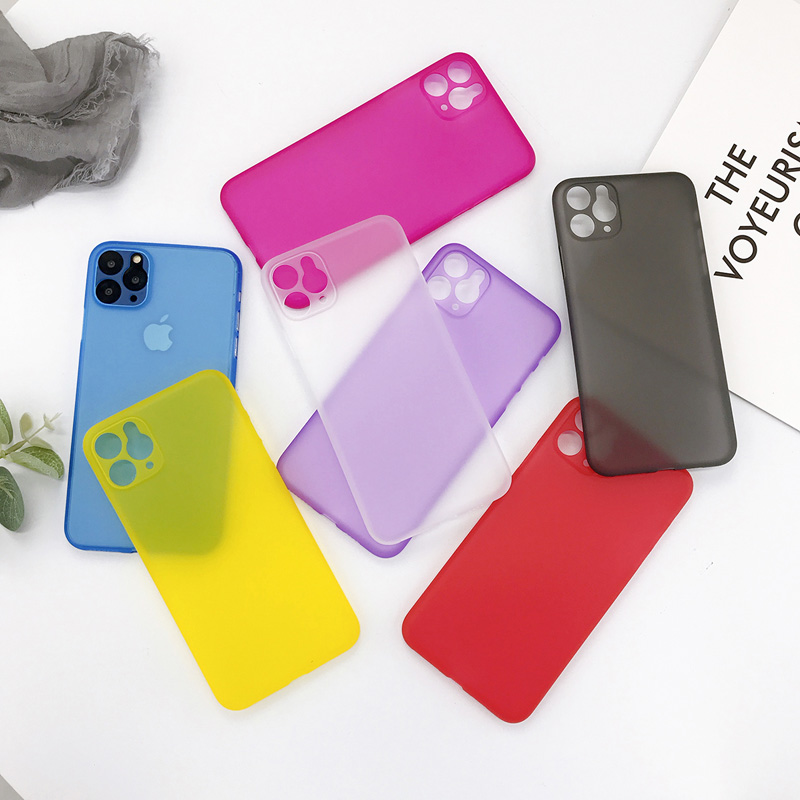Ottwn Candy Color Phone Case For IPhone 11 Pro Max XS XR X 6 6S 7 8 Plus Clear Case Ultrathin Matte Hard PC Back Cover Case Capa