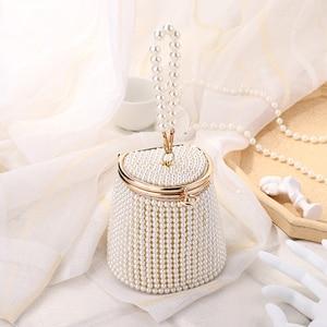 Women Evening Clutch Bag Wedding Purse Fashion Luxury Mini Ladies Pearl Chain Handbag Designer Style New Coins Wholesale