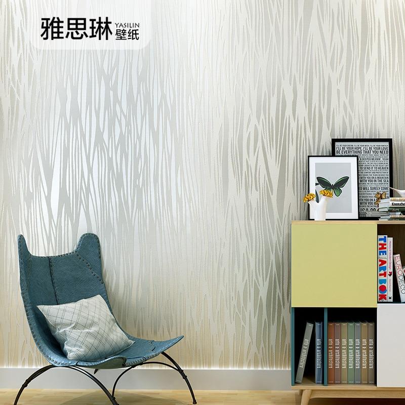 Haute qualité couleur pure non-tissé style nordique papier peint rayé salon papier peint moderne simple et élégant chambre
