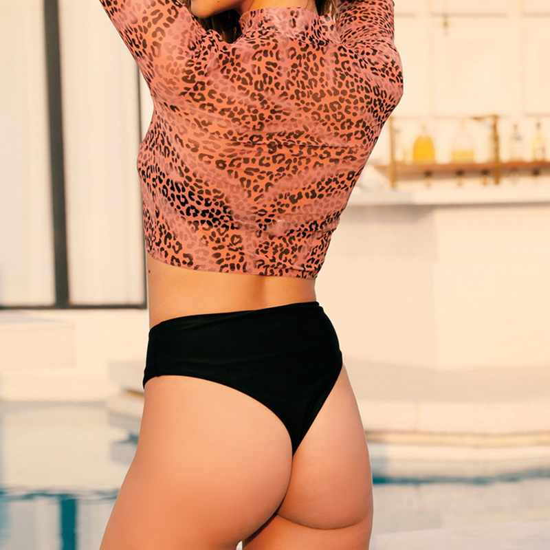 2020 été plage usure rouge imprimer haut court 3 pièce maillot de bain femmes Sexy taille haute Bikini Push Up maillot de bain femme