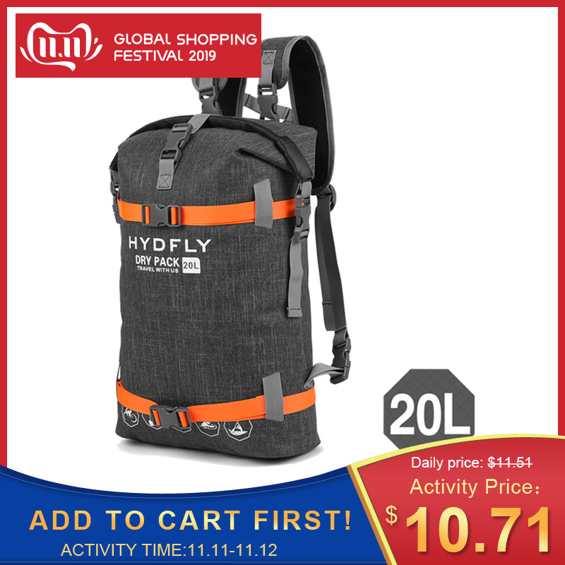 Hot 20L Outdoor Waterproof Bag Trekking Backpack Dry Bag Fishing Floating Water Proof Bag Roll-top Sport Bag Drifting Fishing