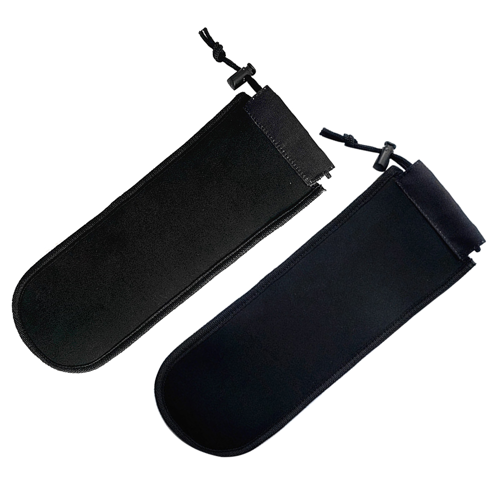 2PCS Ski SBR Soft Board Head Outdoor Sports Practical Snowboard Protectors Black Elastic Foldable Space Saving Drawstring