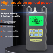 COMPTYCO high precision AUA 70A Optical Power Meter  70dBm~+10dBm Fiber Optical Cable Tester  SC/FC 2 kinds interface Connector