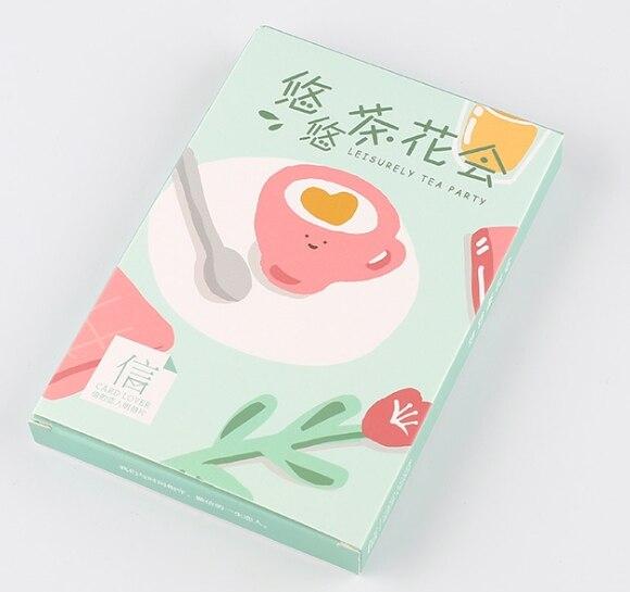 A16- Tea Flower Paper Postcard(1pack=30pieces)