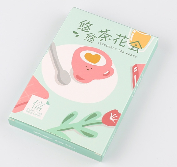 Tea Flower Paper Postcard(1pack=30pieces)