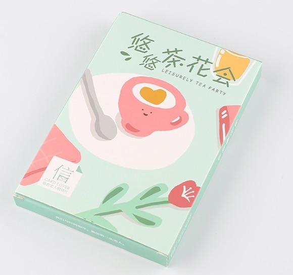 Tea Flower Paper Postcard(1pack=30pieces)