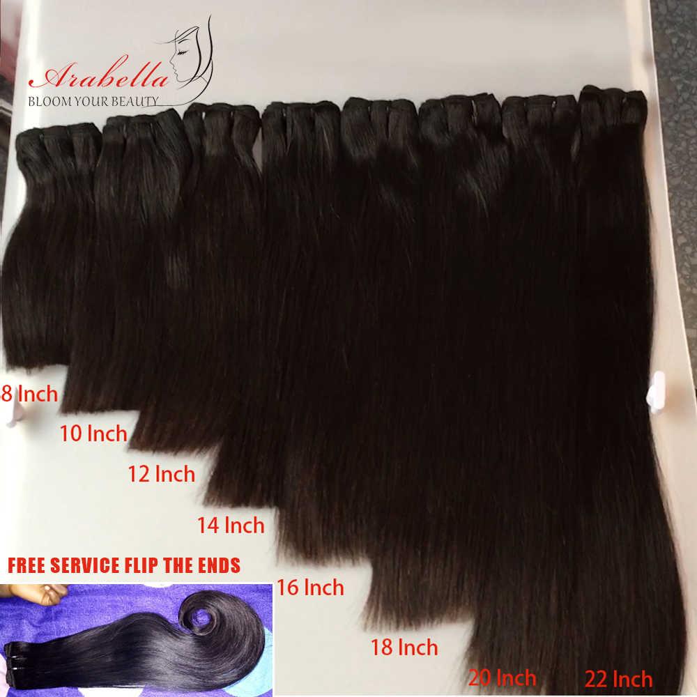 Super Doppel Gezogen Reines Haar Bundles Arabella Brasilianische Gerade Haar Für Top Kunden 100% Menschliches Haar Bundles Mit Verschluss