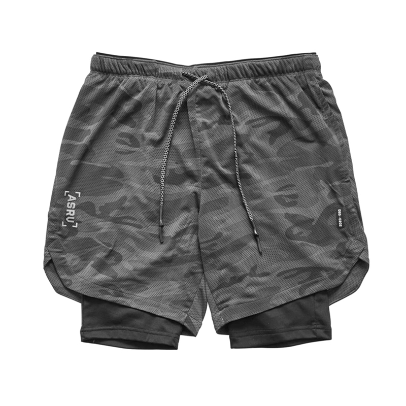 2020 New Color Summer Running Shorts Men 2 In 1 Sports Jogging Fitness Shorts Training Quick Dry Mens Gym Men Shorts Sport Gym