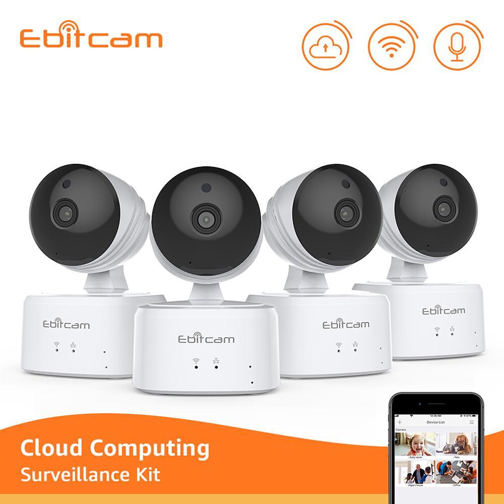 Ebitcam Cloud sans fil système de caméra de sécurité 1080p IP caméras système de caméra de sécurité Wifi IP caméras 1080p intérieur PTZ
