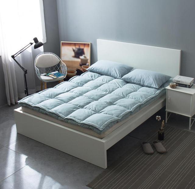 VESCOVO 15CM tatami massage mattress topper matrastopper 100% goose down bed topper for 1.5/1.8m double bed