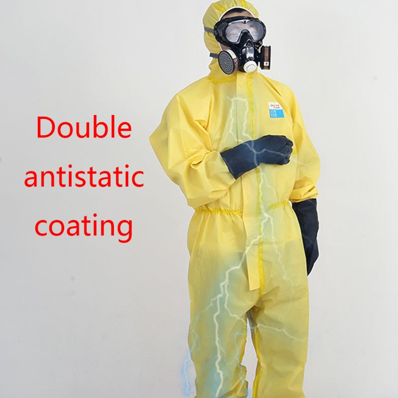 Protective Suit Coveralls With Cap Full Body Protection, Labor Insurance Safety