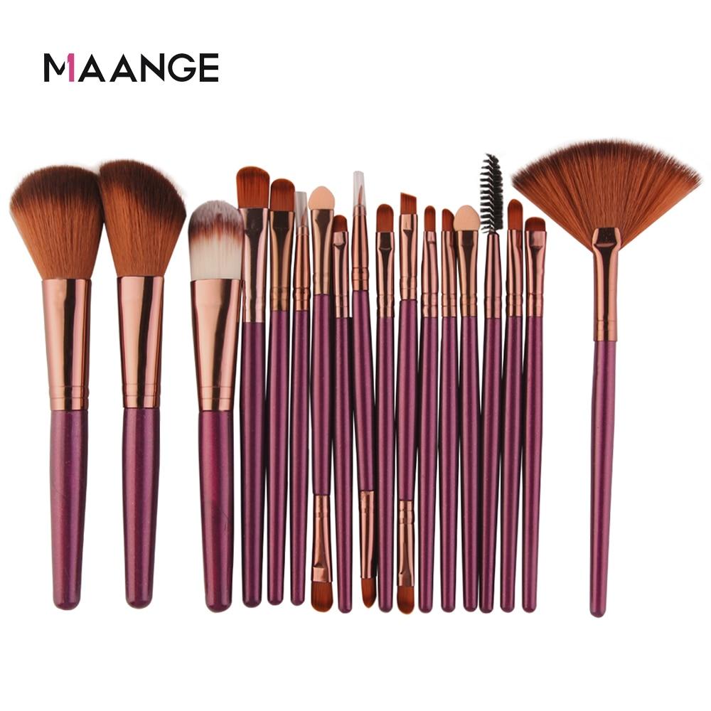 MAANGE 6 15 18 20Pcs Makeup Brushes Tool Set Cosmetic Powder Eye Shadow Foundation Blush Blending