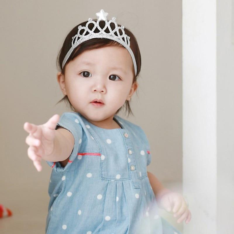 2 Pcs Kids Baby Girls Toddler Princess Cute Crown Hair Band Headband Accessories
