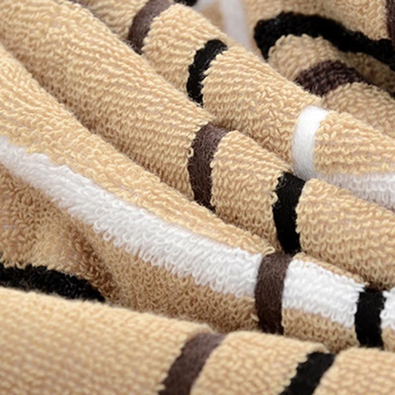 Towel Bath Hotel Special Soft Towel Perfect Simple Plaid Towel Set (2 * towel 1 * bath towel) Home Textiles 5