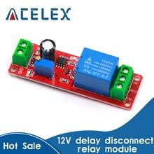 Ne555 dk555 temporizador interruptor de desconexão ajustável módulo de relé de atraso de tempo módulo dc 12v relé de atraso escudo 0 10 10s