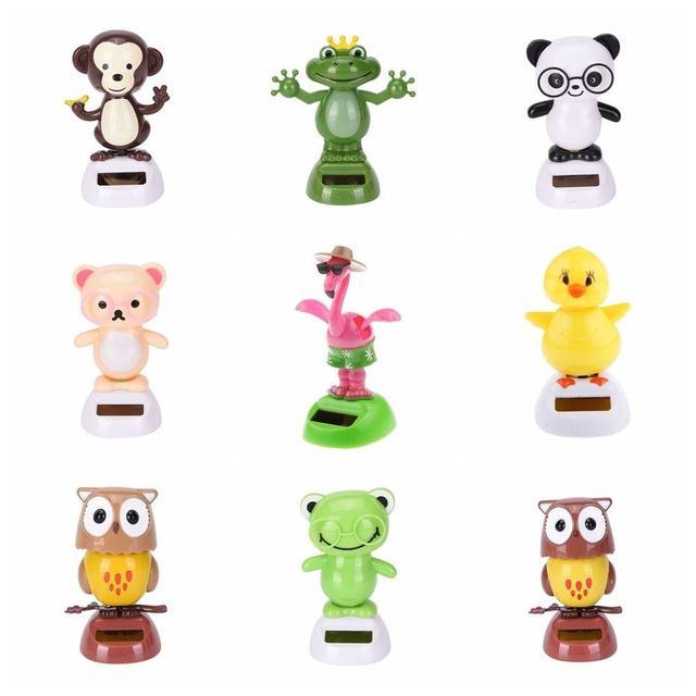 Hot Novelty Solar Toys Adorable Solar Powered Dancing Panda Santa Claus Animal Toy For Home Desk Car Decoration Kids Toys Gift 1