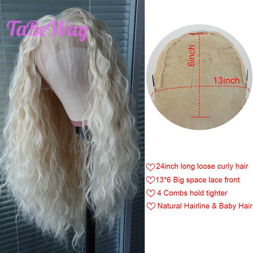 Perruque Lace Front Wig bouclée sans colle-TaBeWay | Perruque synthétique sans colle, 13x6, densité de 613, résistante à la chaleur, pour femmes à la mode