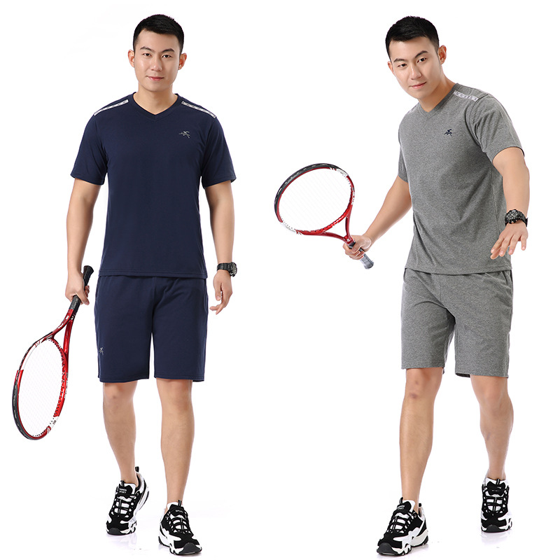 Summer Sports Set MEN'S Short Sleeve Sports Clothing Middle-aged Men Dad Casual Loose-Fit Jogging Suits
