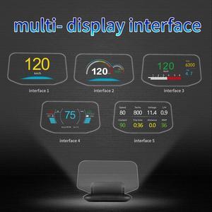 Новейший дисплей с головкой OBD Автомобильная электроника HUD Дисплей автомобильные спидометры C1 превышение скорости предупреждение OBD2 + GPS двойной режим GPS Спидометр