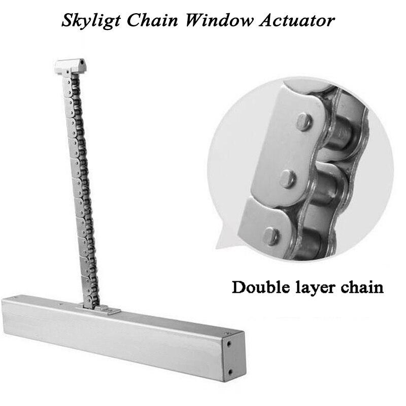 AC100-240V 300mm 40cm 50cm 60cm 70cm Window Actuator Motorized Chain Opener Open Close Skylight Casement Greenhouse