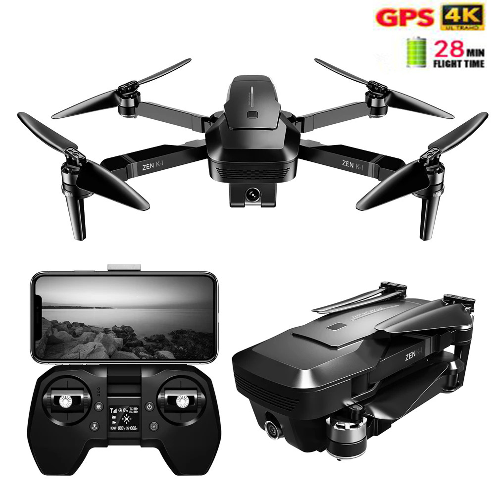 Profession VISUO ZEN K1 RC Drone 5G WIFI GPS Brushless 50X Zoom 4K Dual Camera Beauty Filter Figure RC Quadcopter Drone