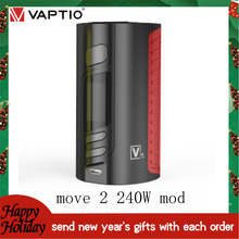【Send New Year's Gifts】VAPTIO MOVE2 240W MOD Vape kit e-cigarettes l Box Mod Fit 510 thread Tank Vape Electronic Cigarette
