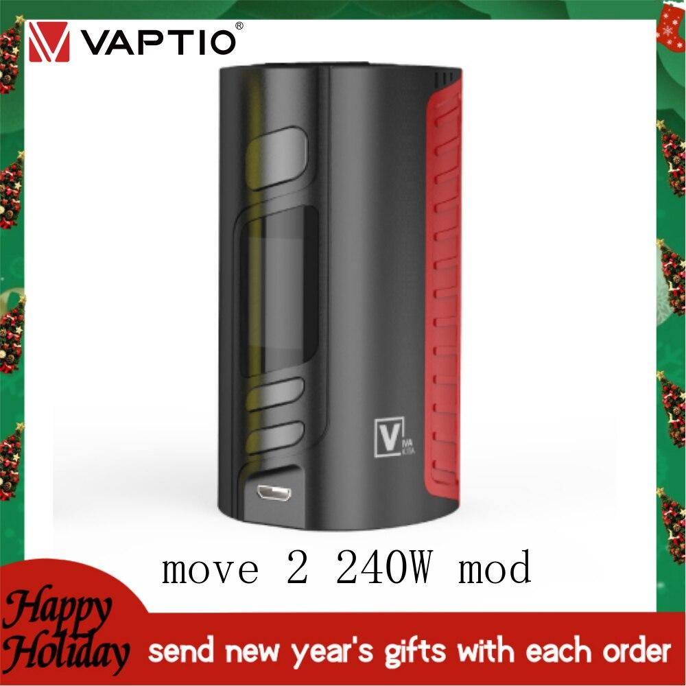 1【Send Neue Jahr der Gifts】VAPTIO MOVE2 240W MOD Vape kit e-zigaretten l Box Mod Fit 510 gewinde tank Vape Elektronische Zigarette
