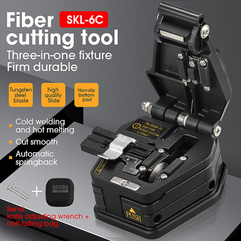 New Fiber cleaver SKL-6C cable cutting knife FTTH fiber optic knife tools cutter High Precision Fiber Cleavers 16 surface blade 1