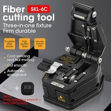 Nova fibra cutelo SKL 6C cabo faca de corte ftth fibra óptica faca ferramentas cortador de alta precisão fibra cleavers 16 lâmina de superfície