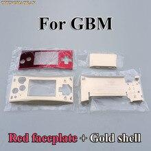 Capa de metal 4 em 1 para nintendo gameboy micro gbm, caixa de reparo para substituição