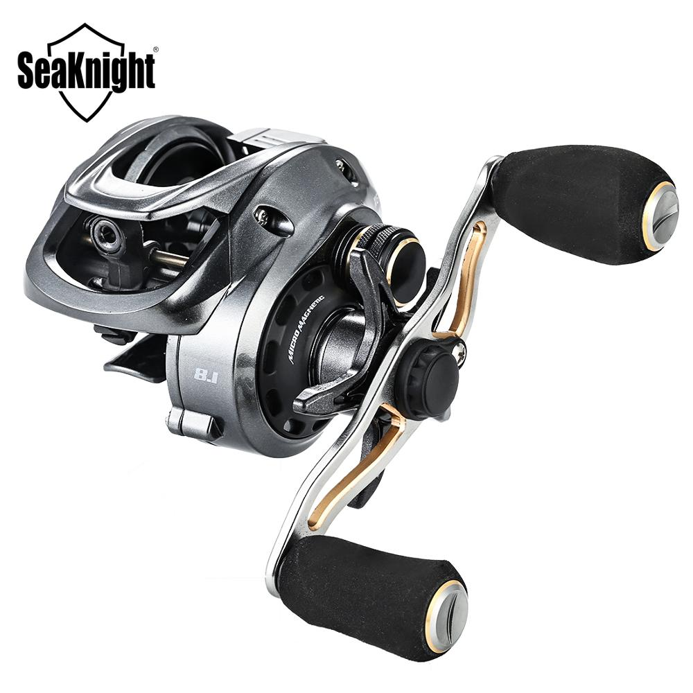 Seaknight FALCON Baitcasting Fishing Reel 7.2:1 8.1:1 190g Baitcasting Reel 18LB Max Drag for Carp Fishing High Speed