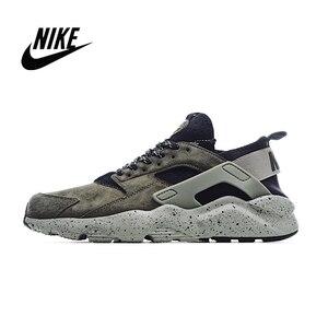Nike ar huarache run ultra 4th geração porco oito couro superior masculino tênis de corrida tamanho 40-45 829669-333
