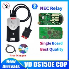 100% Original Single Green PCB with nec Relay VD DS150E CDP with Bluetooth 2016 keygen for delphis car&truck obd diagnostic tool цена 2017