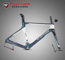 Road Bike Carbon Frame Twitter T10pro Disc Discolored 700C 18K Disc Brake Thru Axle F12*100mm R12*142mm Come With Carbon Fork