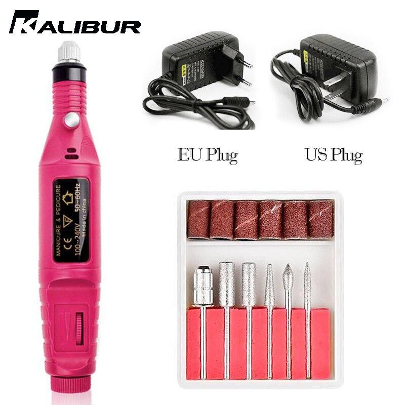 KALIBUR Electric Nail Drill Machine Kit Nail Gel Remove  Machine Nail Art Tools Kit Pen Pedicure Nail File Sanding Bands