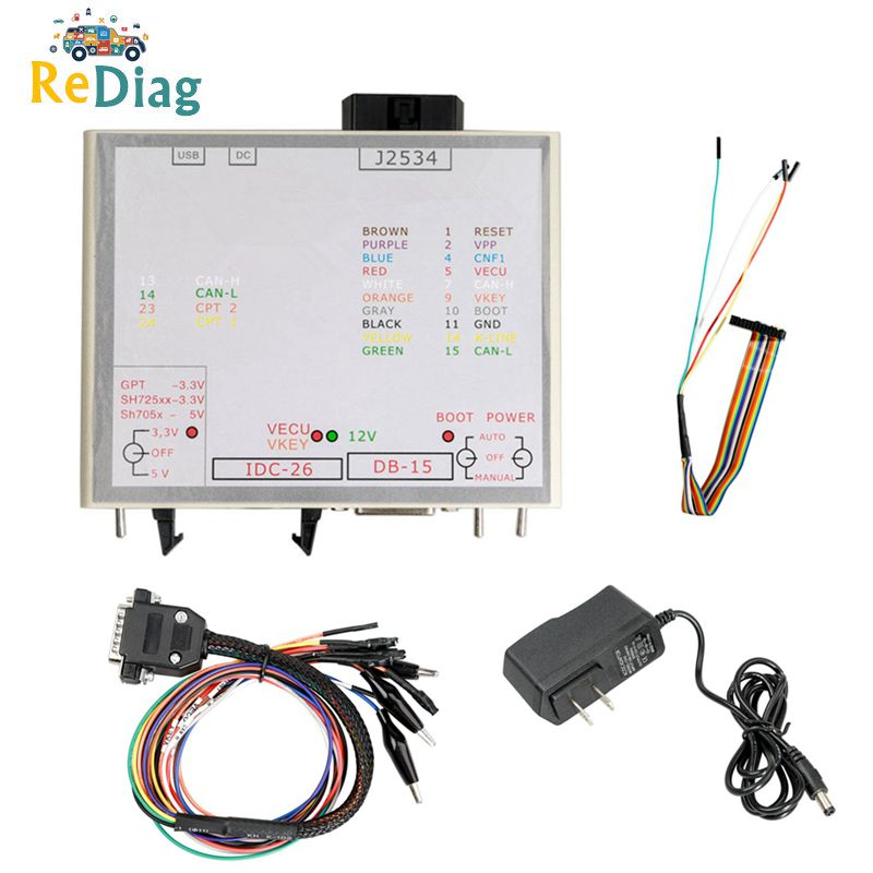 Newest KTM Power Box for KTM JTAG Works For KTM ECU Openport J2534 Device Box KTM FLASH with full Adapters
