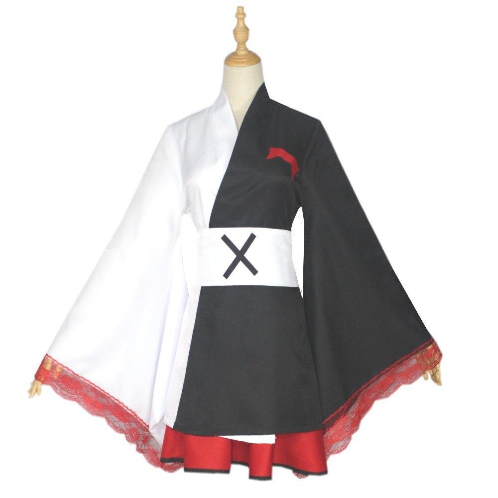 Косплей Монокума котум из аниме «данганронпа» для женщин, черное японское кимоно, костюмы на Хэллоуин, представлений