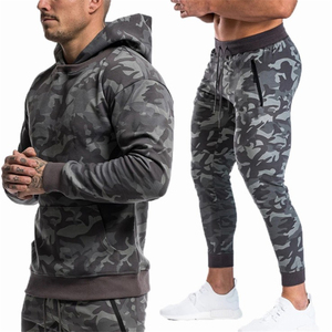 Image 5 - Sports suits Men Set Brand Fitness Suits autumn Men Set Long Sleeve Camouflage Hoodies+Pants Gyms Running Sportswear Suit
