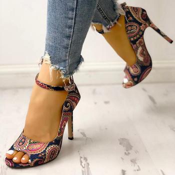 Damskie buty na wysokim obcasie pompy sandały moda letnie buty kobieta 10 5cm i 6 5cm seksowne panie zwiększone szpilki Super buty z odkrytymi palcami tanie i dobre opinie E CN Other Cienkie obcasy Super Wysokiej (8cm-up) Pasuje prawda na wymiar weź swój normalny rozmiar Pasek stawu skokowego