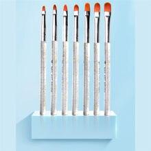 7 pçs/set profissional manicure uv gel escova de unhas caneta pintura escova moda manicure diy ferramentas recém chegados venda quente