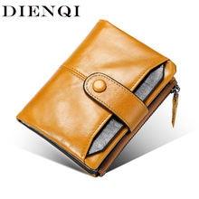 Dienqi мужские кошельки из натуральной кожи rfid держатель для
